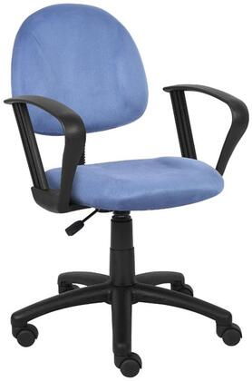 "Boss B327 35"" Microfiber Deluxe Posture Chair with  Loop Arms,  Thick Padded Seat and Back, Waterfall Seat, Adjustable Back Depth, Seat Height Adjustment and 5 Star Nylon Base"