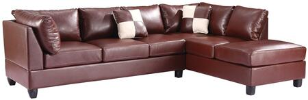 Glory Furniture G640BSC G640 Series Sofa and Chaise Bycast Leather Sofa