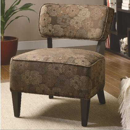 Coaster 900514 Accent Seating Series Fabric Wood Frame Accent Chair