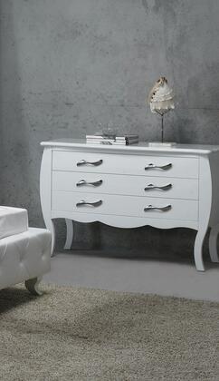VIG Furniture VGKCMONTEDRWHT Monte Carlo Series Wood Dresser