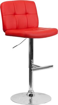 Flash Furniture DS829REDGG Residential Vinyl Upholstered Bar Stool
