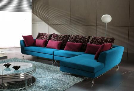 VIG Furniture BRAVOSOFA  Sofa and Chaise Fabric Sofa