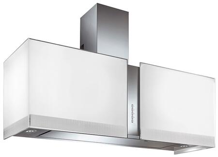 """Futuro Futuro IS34MURFORTUNAx 34"""" Murano Fortuna Series Range Hood with 940 CFM, 4-Speed Electronic Controls, Delayed Shut-Off, Filter Cleaning Reminder, Internal Whisper-Quiet Tangential Blower, and in White"""