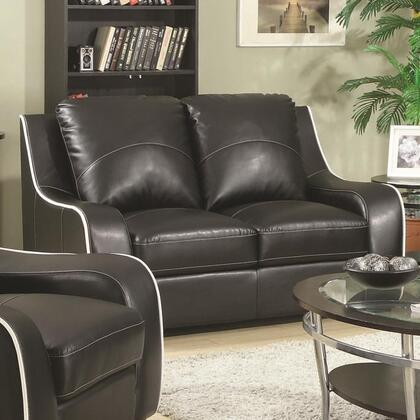 Coaster 504222 Myles Series Bonded Leather Stationary with Wood Frame Loveseat