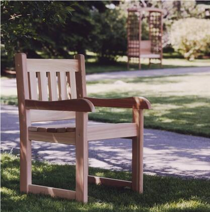 All Things Cedar AC22U  Cedar Frame  Patio Arm Chair