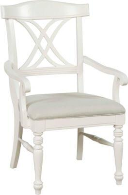 Broyhill 4024580 Mirren Harbor Series Transitional Fabric Wood Frame Dining Room Chair