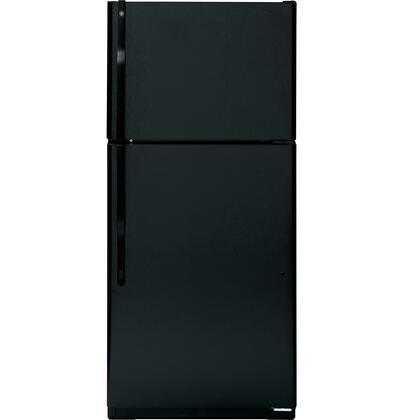 GE GTH18IBDBB Freestanding Top Freezer Refrigerator with 18.0 cu. ft. Total Capacity 3 Glass Shelves 5.09 cu. ft. Freezer Capacity