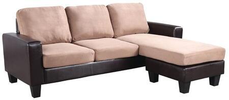 Glory Furniture G218SCH  Stationary Suede Sofa