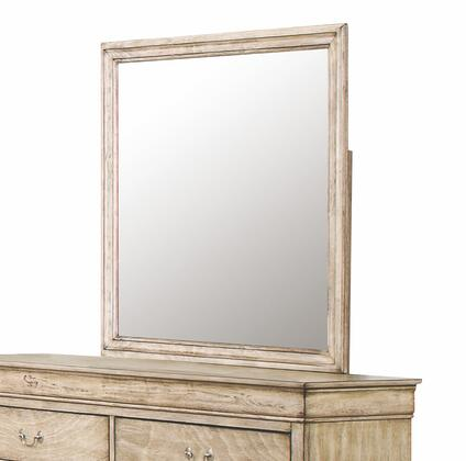 """Glory Furniture G3100 Collection 38"""" Mirror with Squar Shape and Wood Veneers Construction"""