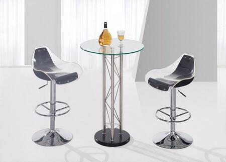 Global Furniture USA M208BTM250BSWHBL3PCSET M208 Bar Tables