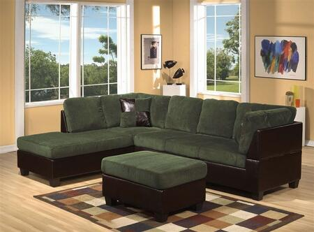 Acme Furniture 55955 Connell Series Sofa and Chaise Fabric Sofa