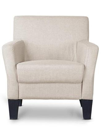 Wholesale Interiors Baxton Studio 9075 Silhouettes Club Chair with Solid Wood Tapered Legs, Sweeping Arms and Fabric Upholstery