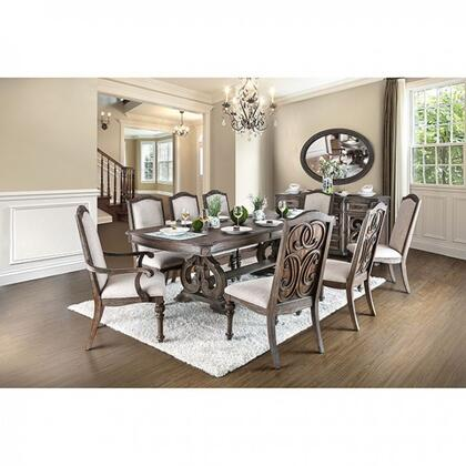 Furniture Of America Cm3150tdtms8scac Arcadia Dining Room Se