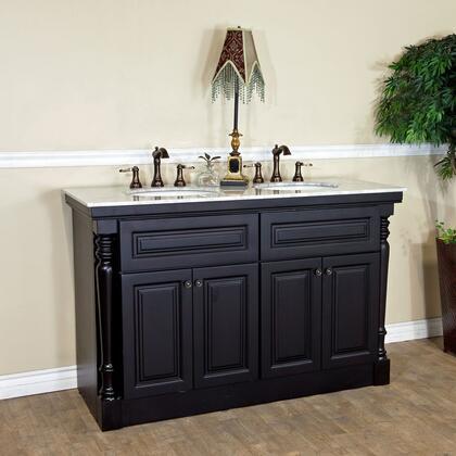 Bellaterra Home 605522X Double Sink Vanity - Dark Mahogany