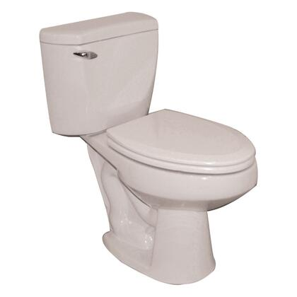 Barclay 2-160 Newberry Compact Toilet, with Elongated Shape, 1.6 GPF Syphon Jet Flush, and Glazed Trapway
