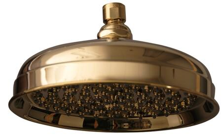 "Barclay 5588 8"" Euro Showerhead with 90 Brass and Rubber Nozzles:"