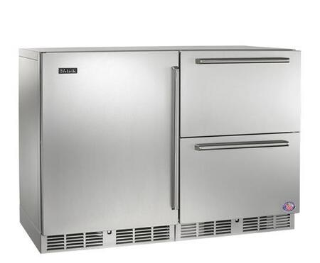 Perlick HP48FRS1L5 Signature Series Stainless Steel Counter Depth Side by Side Refrigerator with 11 cu. ft. Capacity