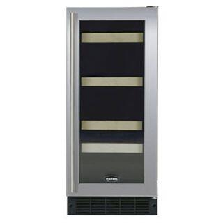 "Marvel 3SBAREWWGR 14.875"" Built In Wine Cooler, in White Frame Glass Door"