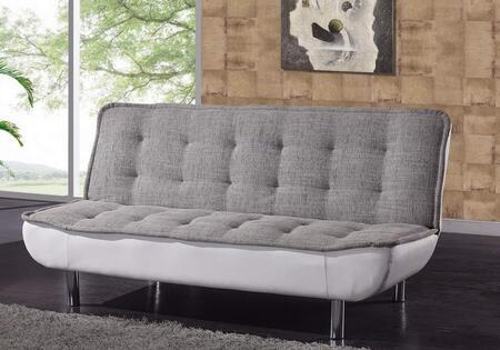 Global Furniture USA JF65Grey  Leather Sofa