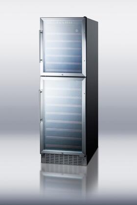 """Summit SWC2149 23.63"""" Freestanding Wine Cooler, in Black"""
