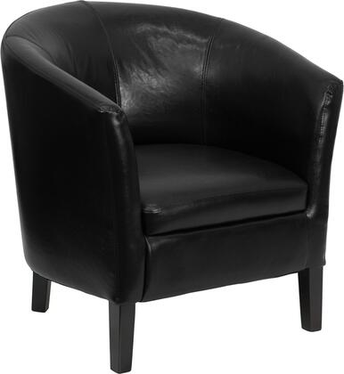 """Flash Furniture GO-S-11-XX-BARREL-GG 17.5"""" Leather Barrel Shaped Guest Chair with Sculpted Back and Seat, Dense Foam Padded Seat, Slanted Arms, and Non-Marring Floor Glides"""