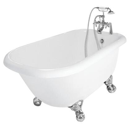 American Bath Factory T040B- Jester Bathtub, Includes Faucet (F90A-) With Metal Cross Handles, Includes Drain: