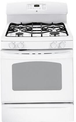 GE JGB281DERWW  Gas Freestanding Range with Sealed Burner Cooktop, 5.0 cu. ft. Primary Oven Capacity, Storage in White