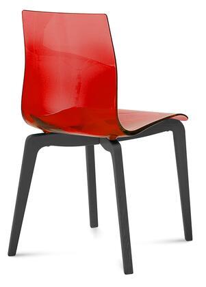 Domitalia GELSLSFLASSRO Gel Series Traditional Wood Frame Dining Room Chair