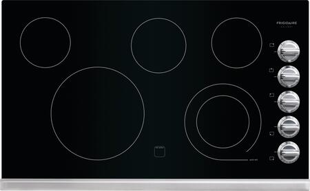 "Frigidaire FGEC3645PS 36"" Gallery Series 5 Element Electric Cooktop, in Black"