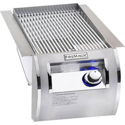 FireMagic Echelon Diamond 32874-1X XX Single Searing Burner with Push Button Electronic Ignition, Blue LED Backlit Safety Knobs and Stainless Steel Grate