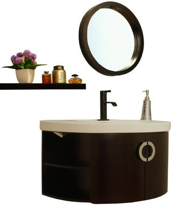 Bellaterra Home Vanity and Mirror Set