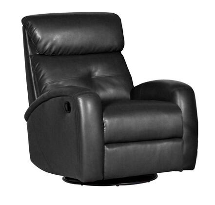 Dezmo D60098MPG Push Button Recline, Glider and Swivell, Arm Chair in Bonded Leather