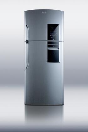 "Summit FF1935PL 30"" Counter Depth Refrigerator with 18.12 cu. ft. Capacity in Platinum"