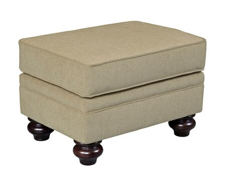 """Broyhill Cassandra 3688-5/COLOR 28"""" Wide Ottoman with Turned Bun Feet, Welting Details and Ultralux Cushion in"""