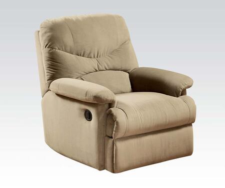 """Acme Furniture Arcadia Collection 35"""" Glider Recliner with Plush Padded Pillow Arms, Split Back Cushions and Microfiber Upholstery in"""
