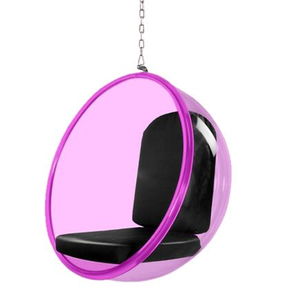 Fine Mod Imports FMI10153 Bubble Hanging Chair Pink Acrylic