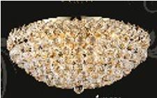 "J & P Crystal Lighting Firework Collection 99005F24 24"" Wide Chandelier in X Finish"