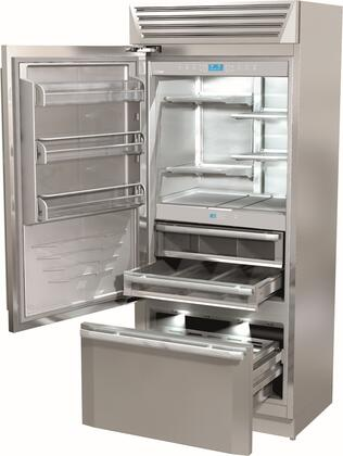 "Fhiaba FM36BFI 36"" TotalNoFrost Built-in Bottom-Freezer Refrigerator with 18.3 cu. ft. Capacity, TriPro Refrigeration, Fresco Compartment, LED Lighting and Automatic Ice Maker in Stainless Steel: Door Hinge"