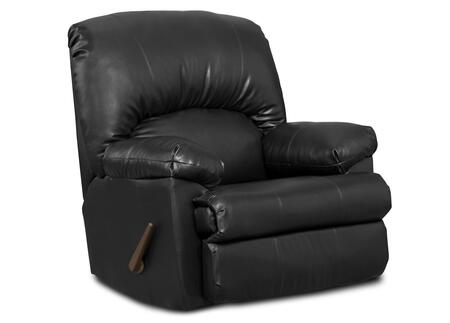 Chelsea Home Furniture 8500BK Charles Series Contemporary Fabric Wood Frame Rocking Recliners