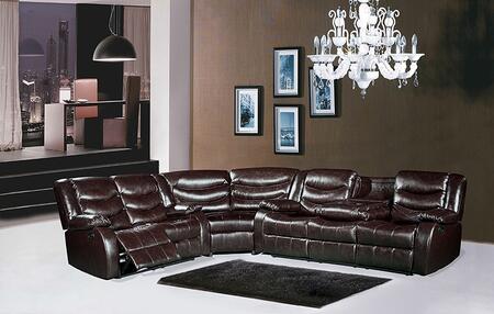 Meridian 644BRSLW Gramercy Sectional Sofas