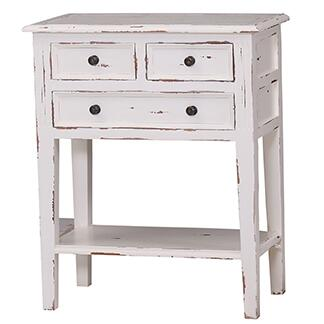 Bramble 10598 Aries Eton Series Transitional Wood Rectangular 3 Drawers End Table
