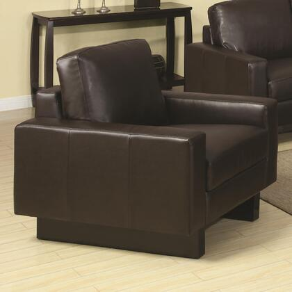 Coaster 504483 Ava Series Bonded Leather with Wood Frame in Brown