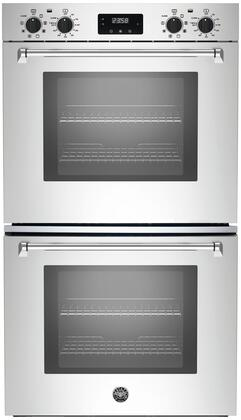 """Bertazzoni MASFD30Xx 30"""" Master Series 8.2 cu. ft. Total Capacity Electric Double Wall Oven with None, 6 or More Oven Racks, Convection, in Stainless Steel"""