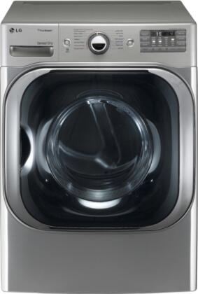 "LG DLGX8001 SteamDryer Series 9.0 cu. ft. Mega Capacity 29"" Wide Front Load Gas Steam Dryer, 14 Drying Programs, 5 Temperature Settings, TrueSteam Technology, NeveRust Drum:"