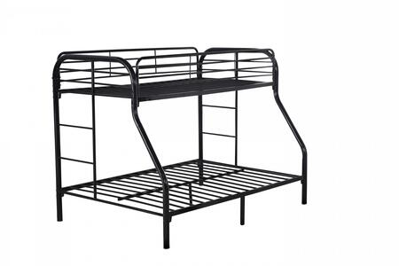 Glory Furniture G0017BLACK G0017 Series  Twin over Full Size Bunk Bed