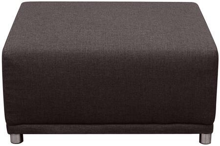 "Diamond Sofa Moderna MODERNAOT 35"" Square Ottoman with Hardwood Frame, Metal Legs and Polyester Fabric Upholstery in Color"