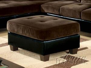Acme Furniture 05077 Deltona Series Contemporary Leather Ottoman