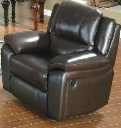 """Yuan Tai BA6636CBR Baxter Series Leather 38"""" Chair with Wood Frame in Brown"""