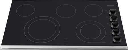 "Frigidaire Gallery Series FGEC3665K 36"" Smoothtop Electric Cooktop With 5 Elements, 2 SpaceWise Expandable Elements, Hot Surface Indicator Light, Smoothtop Ceramic Glass Cooking Surface, In"