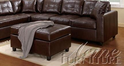 Acme Furniture 50092 Milano Series Contemporary Bonded Leather Ottoman